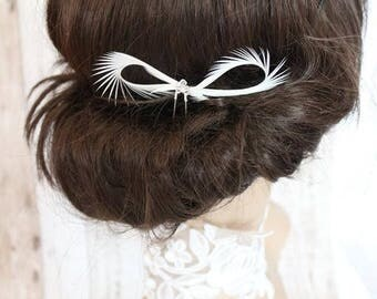 Hair Pins - Swarovski - White