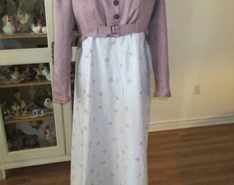 Jane Austen Period Women Dress, Sense & Sensibility Women Clothing (size 16)
