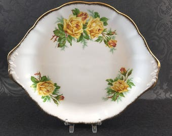 "10"" Cake Plate Serving Platter Royal Albert Tea Rose English Bone China Tray"