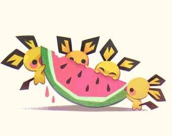 Summer Pichus - Art Print