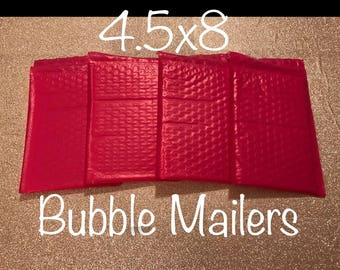 "SHIPS FREE!! 50 4.5""x 8"" Hot Pink Bubble Mailers Size 000 Self Sealing Shipping Envelopes Valentine Spring Easter"