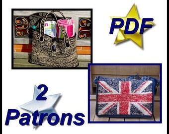 """PDFCrochetPattern """"British Bag & Summer Bag"""""""