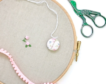 Needle nanny, minder, sewing accessory, pin holder, cross stitch, embroidery, needle work