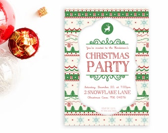 Christmas Party Invitation, Christmas Party Invites, Christmas Invitations, Christmas Party, Christmas Invites, Christmas Cards [98]