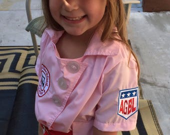 Rockford Peaches Girls Baseball Costume-sizes 10,12,14