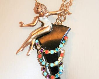 Art deco necklace - ballerina 1930
