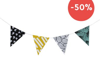 """Do it yourself """"Austral"""" paper pennant banner (8 pennants)"""