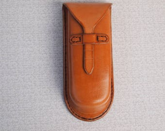 leather handmade traveling glasses case