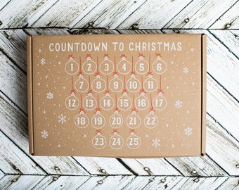 Snowman Countdown To Christmas Wall Hanging Advent Calendar
