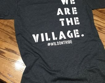 We are the village shirt - It takes a village funny personalized family shirts