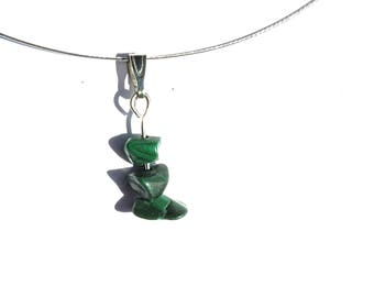 Simple pendant malachite, whimsical necklace, malachite pendant, whimsical pendant, simple necklace, whimsical jewelry, simple jewelry ahin