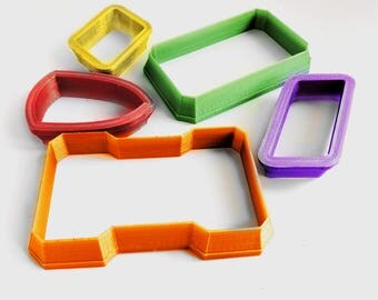 Custom Polymer Clay Cutters - Basic Shapes from 25mm to 150mm - Choice of Colours - NOT FOOD SAFE