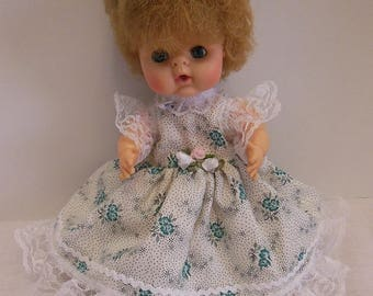 """Green Floral Dress Set for Uneeda 8"""" Bundle of Love Dolls"""