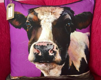 Handmade Cow Cushion Cover