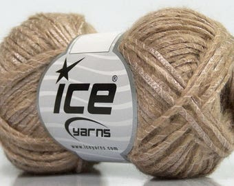 Mohair Blend Knitting Yarn Crochet Yarn Knit Beige Lot 49134