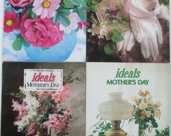 Lot Of 4 Mothers Day Ideals Magazine, Poems, Christian, Vintage Used