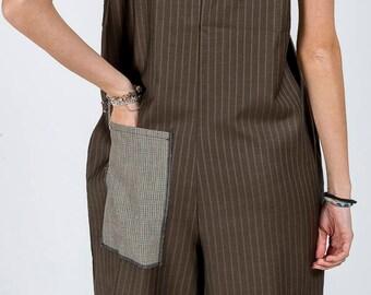 Suit MoD. Licorice/Brown Pinstripe