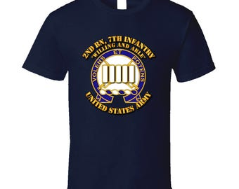 Army - 2nd Bn, 7th Infantry - Willing And Able T-shirt