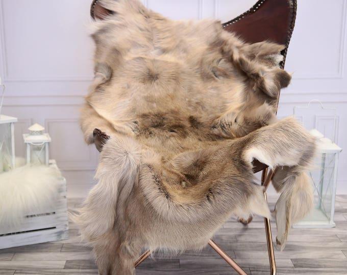 Reindeer Hide | Reindeer Rug | Reindeer Skin | Throw XL LARGE  - Scandinavian Style #1RE10