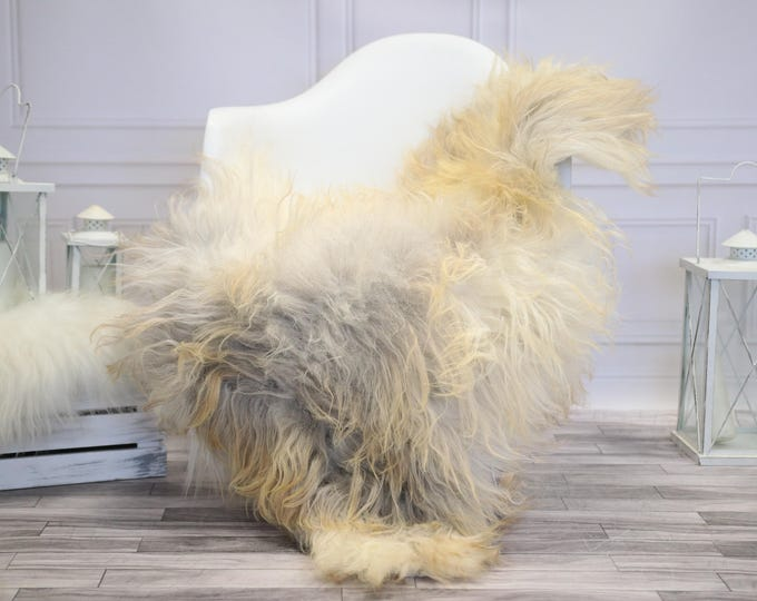 Icelandic Sheepskin   Real Sheepskin Rug   Ivory Gray Sheepskin Rug   Fur Rug    Home decor #JANISL29