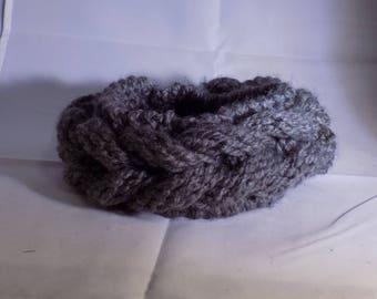 Gray Braid Headband