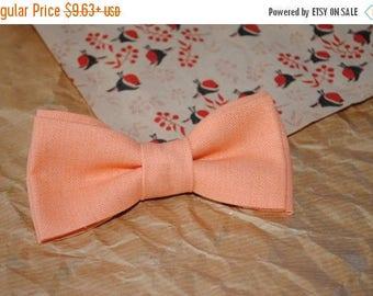 peach bow tie men groom bow tie for him gift him gift men gift boyfriend anniversary gift ring bearer neck tie for men linen tie linen LTK12