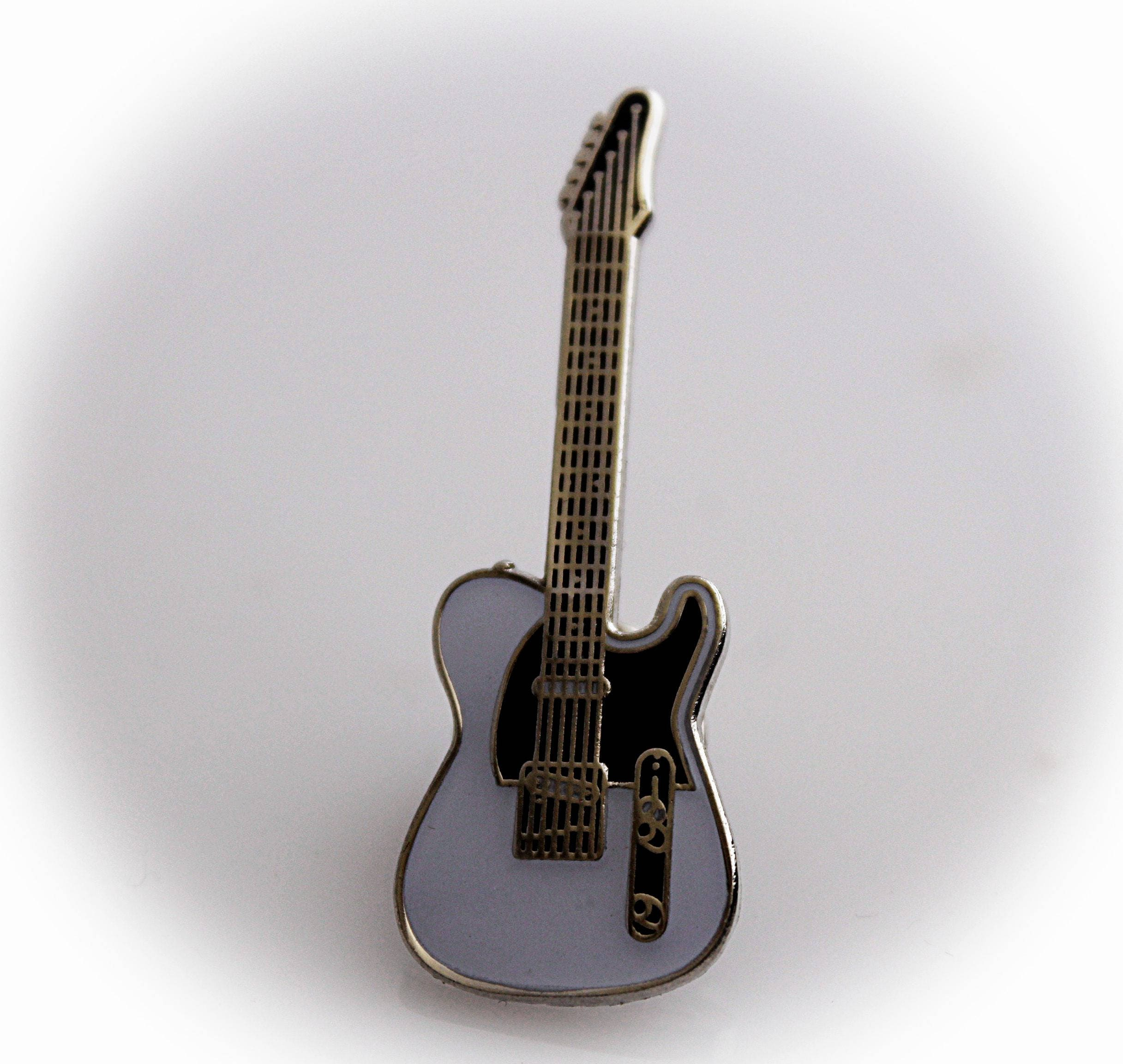 Fender Telecaster Guitar Pin White Yellow Or Black