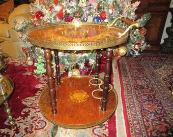 ITALY MARQUETRY BAR Cart