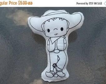 On sale Cowboy   Coloring Stuffie : Coloring . Plushie .Washable . Reusable . Party Favor .