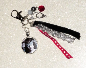 Jewelry bag/key theme 50 shades of Grey, Red/Black/Silver and Pearl ribbons