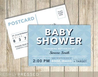 Baby Shower - Custom Postcard Invitation