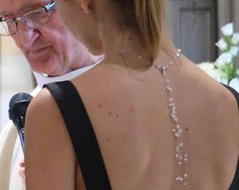 Back jewelry SWAROVSKI Crystal dress cut back - back wedding jewelry - custom