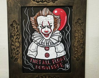 They All Float Down Here. IT tribute Frame