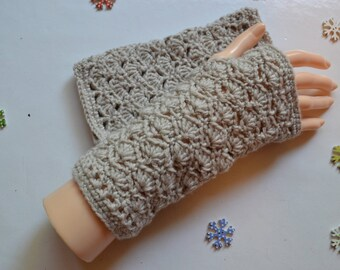 ecruesm crochet lace fingerless gloves
