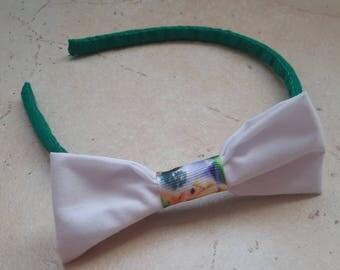 Tinkerbell pattern bow headband