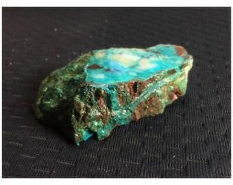 Gem Silica Chrysocolla with Malachite and Quartz Rough Slab/Chunk! Inspiration Mine, AZ., 77g.!