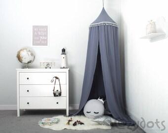 Premium Muslin Canopy metallic blue, Tent canopy, Bed Canopy, Crib Canopy, kids canopy, Play room canopy