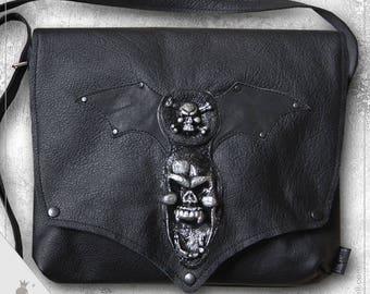 "Shoulder bag  ""Dark Wings"" - Extraordinary Gothic Style shoulder bag"