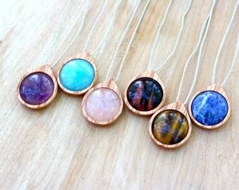 Crystal Necklace Gemstone Pendant, Healing Crystal Crystal Pendant, Gemstone Jewelry Gemstone Necklace
