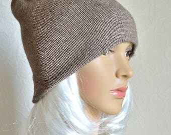 Hand made 100% cashmere women's hat