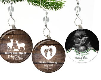 Pregnancy Announcement Ornament- Were Expecting Ornament- Were Expecting Christmas Ornaments- Pregnancy Ornament- Pregnancy Christmas