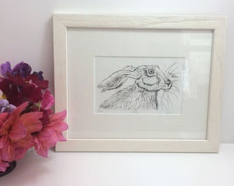 Hare Drypoint Etching