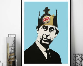 Burger King by Dolk Street Art Print