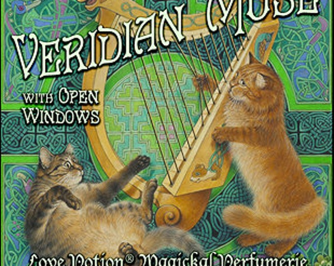 Ivory Cats: Veridian Muse w/ Open Windows - Pheromone Enhanced - Handcrafted Unisex Fragrance - Love Potion Magickal Perfumerie