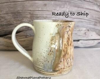 16oz. Mug, Pottery, Handmade, Pottery Handmade, Wheel Thrown, Coffee Mug, Tea, Hot Chocolate, Stoneware, Ready to Ship, Ceramic, Gift, 16oz.