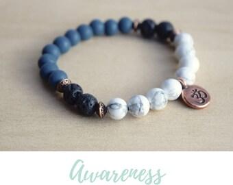 Calming Bracelet / everyday bracelets, balance bracelet, 7 chakra bracelet, meditation bracelets, simple bracelets, karma bracelet