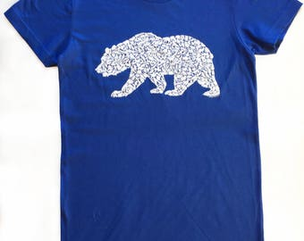 Alice frost studio by alicefroststudio on etsy grizzly bear t shirt for men and women on american apparel with wild california animals 100 publicscrutiny Image collections