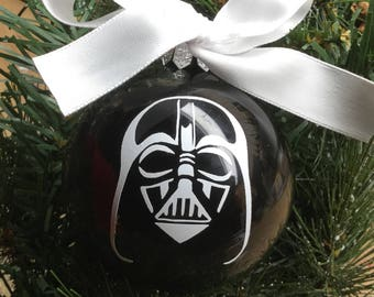 Personalized Darth Vader Inspired Christmas Ornament