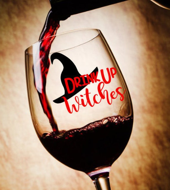 Free Shipping-Drink Up Witches, Resting Witch Face, Halloween Decal Sticker, Sanderson Sisters, Hocus Pocus, Salem Black Cat, Haunted