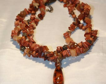 Goldstone Semi- Precious Necklace